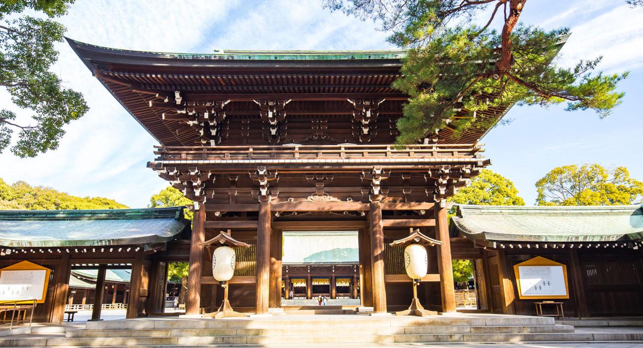 Eingangstor des Meiji-Schreins