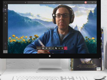 Ghibli-Hintergrundbild bei Videochat